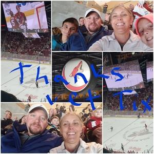 Joshua attended Arizona Coyotes vs. Vancouver Canucks - NHL on Oct 25th 2018 via VetTix