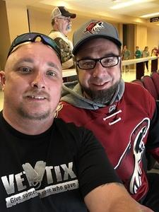 Keith attended Arizona Coyotes vs. Vancouver Canucks - NHL on Oct 25th 2018 via VetTix