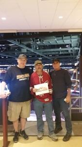 HOWARD attended Arizona Coyotes vs. Vancouver Canucks - NHL on Oct 25th 2018 via VetTix