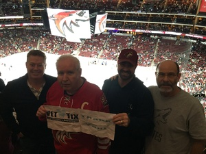 Mark attended Arizona Coyotes vs. Vancouver Canucks - NHL on Oct 25th 2018 via VetTix