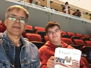 Richard attended Arizona Coyotes vs. Vancouver Canucks - NHL on Oct 25th 2018 via VetTix