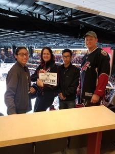 Douglas attended Arizona Coyotes vs. Vancouver Canucks - NHL on Oct 25th 2018 via VetTix