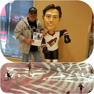 Francisco attended Arizona Coyotes vs. Vancouver Canucks - NHL on Oct 25th 2018 via VetTix