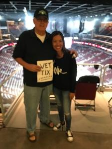 Ron attended Arizona Coyotes vs. Vancouver Canucks - NHL on Oct 25th 2018 via VetTix