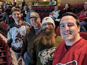 Jacob attended Arizona Coyotes vs. Vancouver Canucks - NHL on Oct 25th 2018 via VetTix