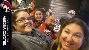 Jay attended Arizona Coyotes vs. Vancouver Canucks - NHL on Oct 25th 2018 via VetTix