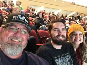 Harvey attended Arizona Coyotes vs. Vancouver Canucks - NHL on Oct 25th 2018 via VetTix