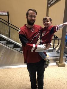 Matthew attended Arizona Coyotes vs. Vancouver Canucks - NHL on Oct 25th 2018 via VetTix