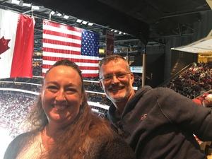 Reggie attended Arizona Coyotes vs. Vancouver Canucks - NHL on Oct 25th 2018 via VetTix