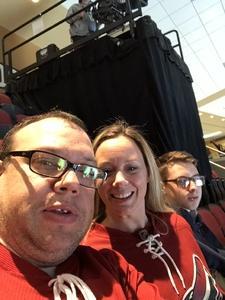 Robert attended Arizona Coyotes vs. Vancouver Canucks - NHL on Oct 25th 2018 via VetTix