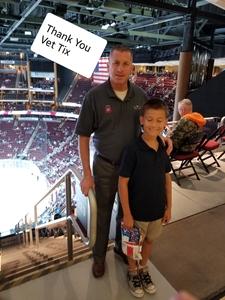 Mark attended Arizona Coyotes vs. Vancouver Canucks - NHL on Oct 25th 2018 via VetTix