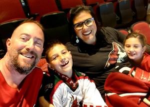 Steve attended Arizona Coyotes vs. Vancouver Canucks - NHL on Oct 25th 2018 via VetTix