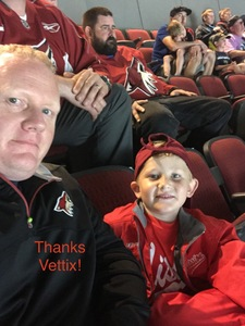 andrew attended Arizona Coyotes vs. Vancouver Canucks - NHL on Oct 25th 2018 via VetTix