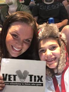 Bradlee attended Arizona Coyotes vs. Vancouver Canucks - NHL on Oct 25th 2018 via VetTix
