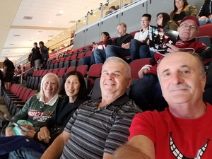 Elmer attended Arizona Coyotes vs. Vancouver Canucks - NHL on Oct 25th 2018 via VetTix