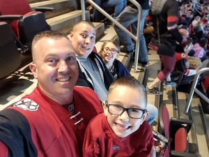 Dana attended Arizona Coyotes vs. Vancouver Canucks - NHL on Oct 25th 2018 via VetTix