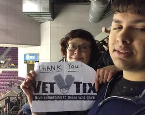 Cynthia attended Colorado College Tigers vs. Miami University - NCAA Hockey on Nov 16th 2018 via VetTix