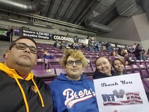 ROBERT attended Colorado College Tigers vs. Miami University - NCAA Hockey on Nov 16th 2018 via VetTix