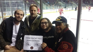 Miguel and Colleagues attended Colorado College Tigers vs. Miami - NCAA Hockey on Nov 17th 2018 via VetTix