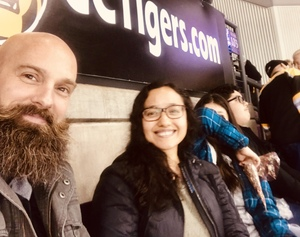 Angelina attended Colorado College Tigers vs. Miami - NCAA Hockey on Nov 17th 2018 via VetTix