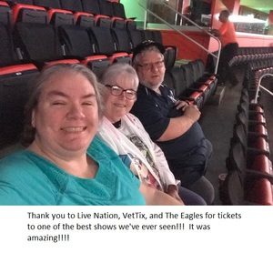 Michael attended Eagles - Live on Oct 14th 2018 via VetTix