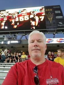 Jeffery attended Arizona State Sun Devils vs. Stanford - NCAA Football on Oct 18th 2018 via VetTix
