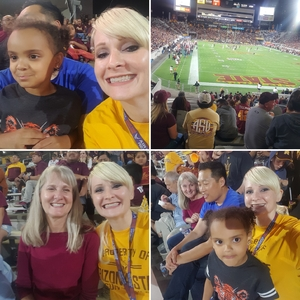 RACHEL attended Arizona State Sun Devils vs. Stanford - NCAA Football on Oct 18th 2018 via VetTix