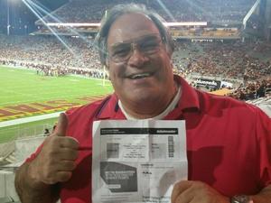 Carlos attended Arizona State Sun Devils vs. Stanford - NCAA Football on Oct 18th 2018 via VetTix