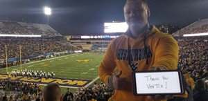 JOHN attended West Virginia Mountaineers vs. Baylor Bears - NCAA Football on Oct 25th 2018 via VetTix