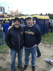 Jeffrey attended West Virginia Mountaineers vs. Baylor Bears - NCAA Football on Oct 25th 2018 via VetTix