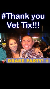 Aaron attended Drake Party on Oct 25th 2018 via VetTix