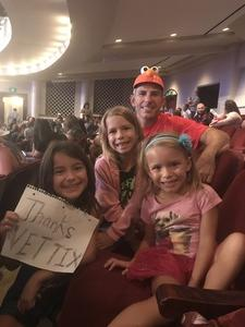 Jack attended Sesame Street Live! Make Your Magic on Oct 21st 2018 via VetTix