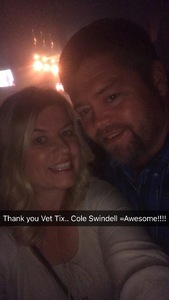 Charles attended KSCS Country Fest with Cole Swindell on Oct 18th 2018 via VetTix