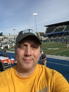 Geoffrey attended Tulane University vs. Navy - NCAA Football on Nov 24th 2018 via VetTix