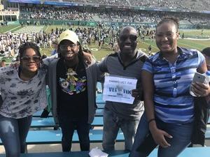 Yahmaine attended Tulane University vs. Navy - NCAA Football on Nov 24th 2018 via VetTix