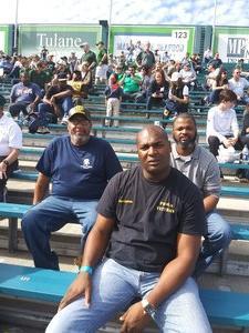 Hosea attended Tulane University vs. Navy - NCAA Football on Nov 24th 2018 via VetTix