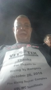 Ronald attended Phoenix Rising vs Swope Park Rangers - USL Western Semifinals on Oct 26th 2018 via VetTix