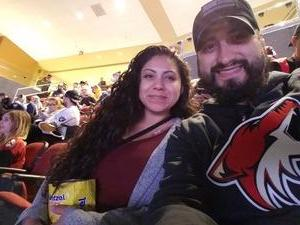 Bevan attended Arizona Coyotes vs. Ottawa Senators - NHL on Oct 30th 2018 via VetTix
