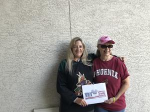 Fern attended Arizona Coyotes vs. Ottawa Senators - NHL on Oct 30th 2018 via VetTix