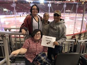 Leilani attended Arizona Coyotes vs. Ottawa Senators - NHL on Oct 30th 2018 via VetTix