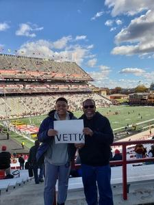 Clarence attended University of Maryland vs. Michigan State - NCAA Football on Nov 3rd 2018 via VetTix