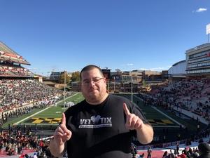 Jeff attended University of Maryland vs. Michigan State - NCAA Football on Nov 3rd 2018 via VetTix