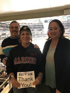 Melissa attended San Jose Sharks vs. Calgary Flames - NHL - Military Appreciation Night - Regular Game Tickets on Nov 11th 2018 via VetTix