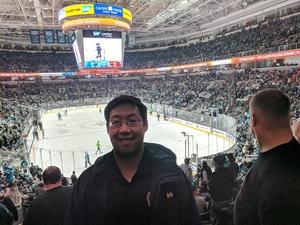 Kenneth attended San Jose Sharks vs. Calgary Flames - NHL - Military Appreciation Night - Regular Game Tickets on Nov 11th 2018 via VetTix