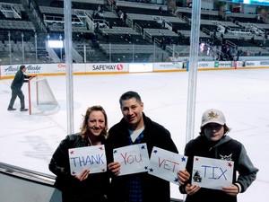 Shanna attended San Jose Sharks vs. Calgary Flames - NHL - Military Appreciation Night - Regular Game Tickets on Nov 11th 2018 via VetTix