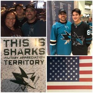 Steven attended San Jose Sharks vs. Calgary Flames - NHL - Military Appreciation Night - Regular Game Tickets on Nov 11th 2018 via VetTix