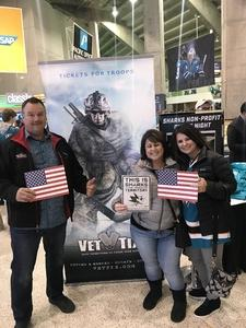 Terry attended San Jose Sharks vs. Calgary Flames - NHL - Military Appreciation Night - Regular Game Tickets on Nov 11th 2018 via VetTix