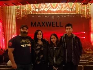 Joseph attended Maxwell - R&b on Nov 8th 2018 via VetTix