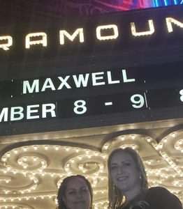 Sara attended Maxwell - R&b on Nov 8th 2018 via VetTix