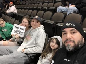 James attended Jacksonville Icemen vs. Newfoundland Growlers - ECHL on Nov 21st 2018 via VetTix